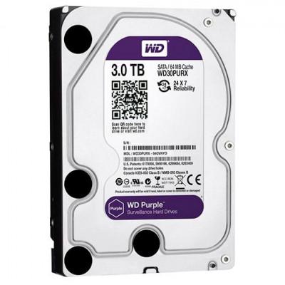"Жёсткий диск 3.5"" WD Purple 3TB SATA/64MB (WD30PURZ)"