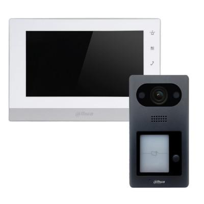 Комплект домофона Dahua DHI-VTH1550CH-S2 + вызывная панель DHI-VTO3211D-P-S1