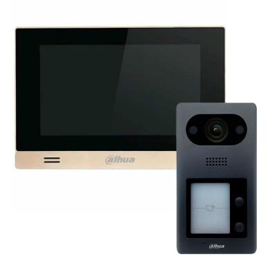 Комплект домофона Dahua DHI-VTH1550CHM-S1 + вызывная панель DHI-VTO3211D-P2-S1