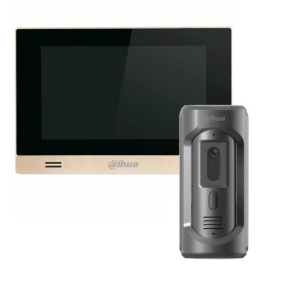Комплект домофона Dahua DHI-VTH1550CHM-S1 + вызывная панель DHI-VTO2101E-P-S1