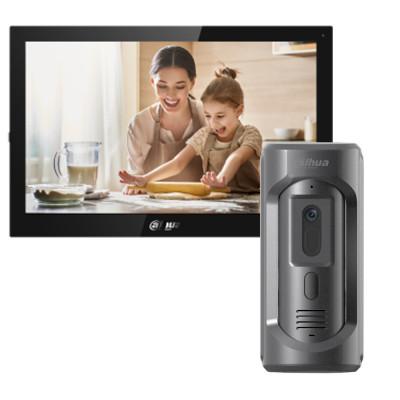 Комплект домофона Dahua DHI-VTH5341G-W + вызывная панель DHI-VTO2101E-P-S1