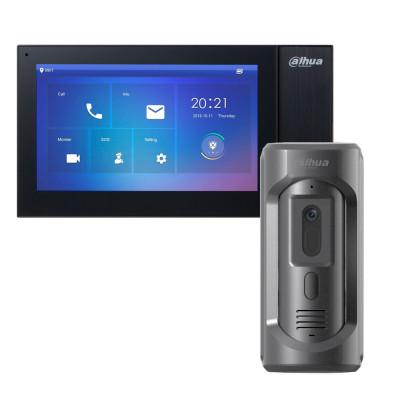 Комплект домофона Dahua DHI-VTH2421FB-P + вызывная панель DHI-VTO2101E-P-S1