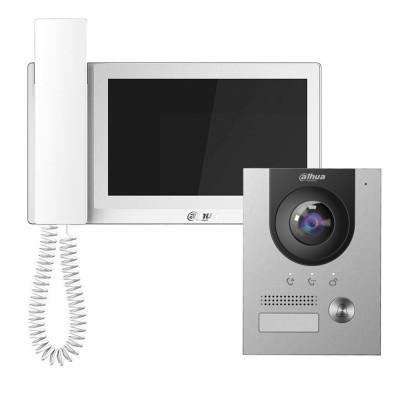 Комплект домофона Dahua DHI-VTH5221EW-H + вызывная панель DHI-VTO2202F
