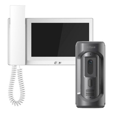 Комплект домофона Dahua DHI-VTH5221EW-H + вызывная панель DHI-VTO2101E-P-S1