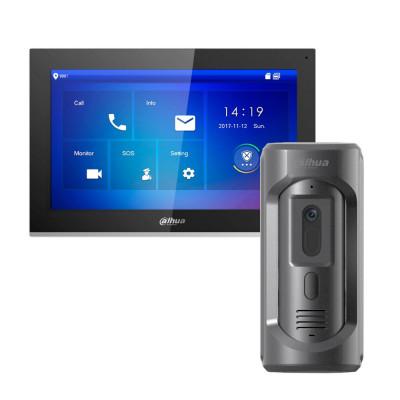 Комплект домофона Dahua DHI-VTH5441G + вызывная панель DHI-VTO2101E-P-S1
